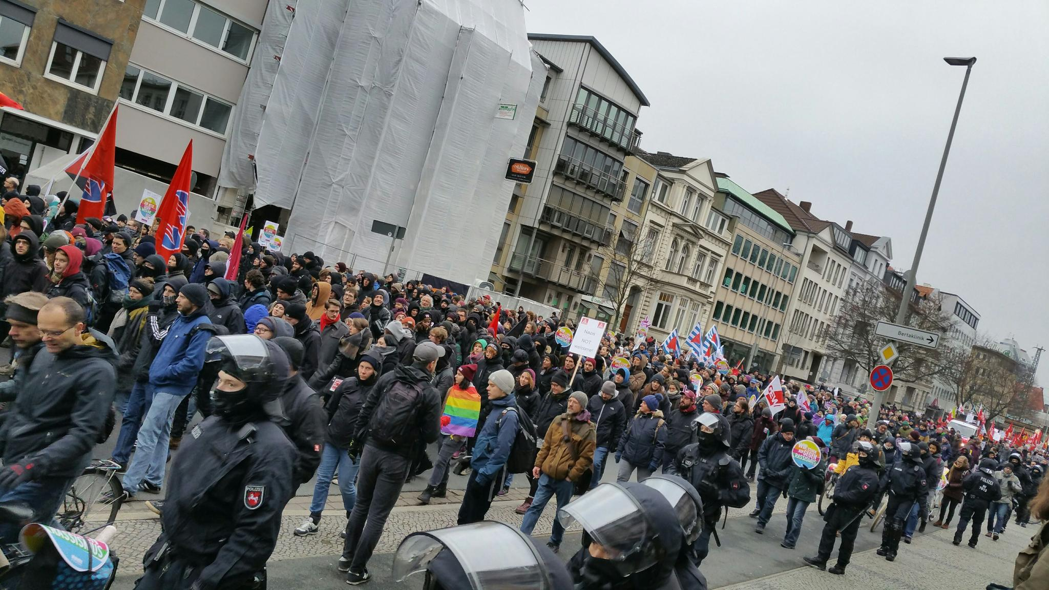 Protest gegen die AfD