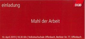 Mahl der Arbeit Offenbach