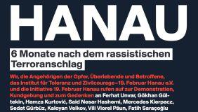 Am 22. August 2020 nach Hanau!