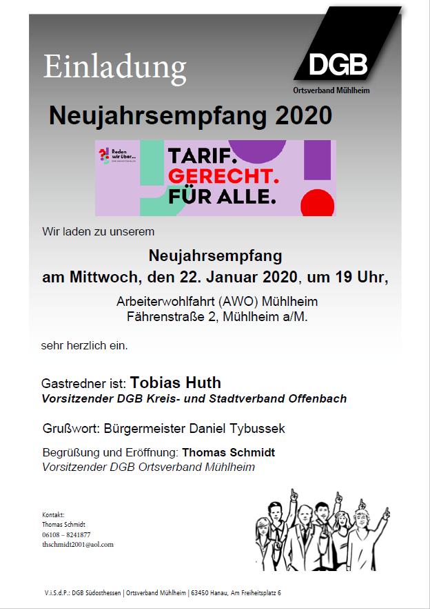 Neujahresempfang Mühlheim