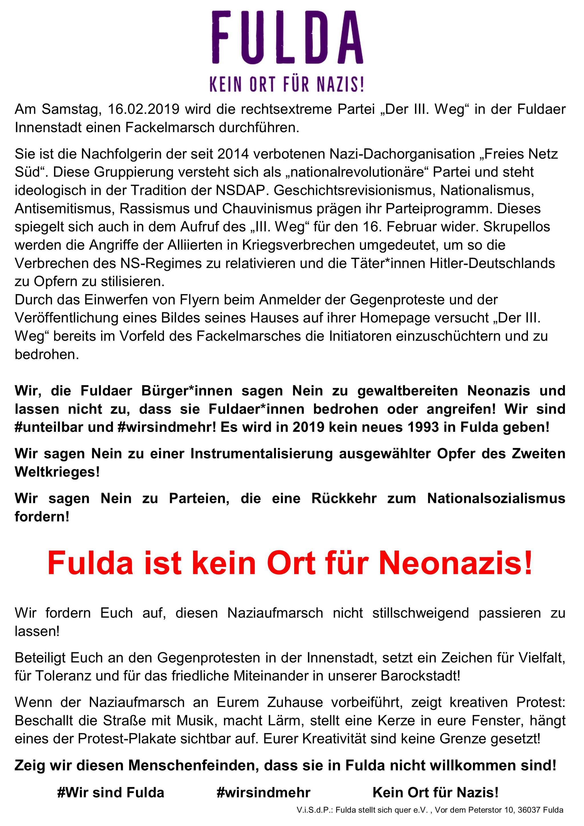 Fulda stellt sich quer